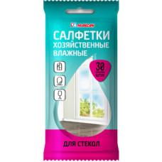 Салфетки влажные хоз. для стекол 30шт., арт. 409