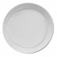 Тарелка одноразовая 220 мм ПП без секций белая (50 шт/упак)