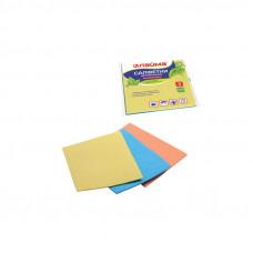 Салфетки целлюлозные (губчатые) 15х18 см, комплект 3 шт., высокая впитываемость, ЛАЙМА, 601558