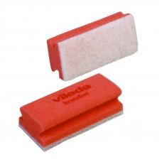 Губка Виледа Минимальная жесткость, белый абразив, красный (10 шт/уп), арт. 102563