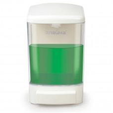 Диспенсер для жидкого мыла ЛАЙМА, наливной, 1 л, ABS-пластик, белый, 601794