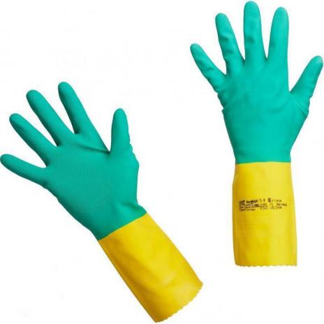 Перчатки латексные Vileda с неопреном Усиленные, S, 1 пара, арт. 120267, Vileda Professional