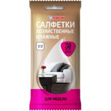 Салфетки влажные хоз. для мебели 30шт., арт. 2608