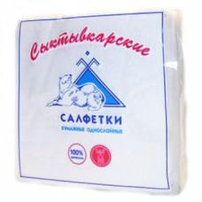 Салфетки 100л. 24*24 см, «Сыктывкарские» с теснением, 1сл., белые (48 шт/упак), арт. 886