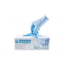 Одноразовые нитриловые перчатки 5Assist, голубой, 3,5 гр,  (100 шт/упак)