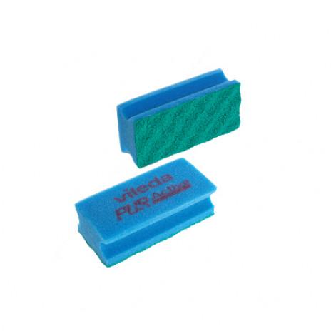 Губка ПурАктив, синяя 10 шт/уп, арт.123118, Vileda Professional