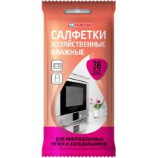 Салфетки влажные хоз. для микроволновых печей 30шт., арт. 407