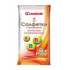 Салфетки влажные «Мини» с витамином В 15шт., арт. 68