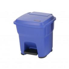 Контейнер Vileda ГЕРА с педалью и крышкой 35 л, синий, с наклейками для сортировки, арт.137747
