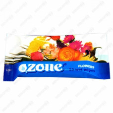 Салфетки влажные «Ozone» аромат цветов, 15 шт., арт. 2893