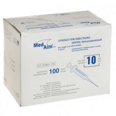 ШПРИЦ MedAim 10 мл инъекционный одноразовый 0,80*40 мм (50 шт/упак)