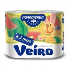 Полотенца бумажные «Linia Veiro Classic Plus» 2сл., 2, белые 100% целлюлоза 6П22  150 листов (4 шт/упак), арт. 3073