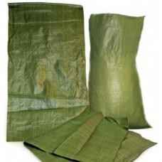 Мешки ПОЛИПРОПИЛЕН зеленый, 55см*95см, 63 гр. (100 шт/упак)