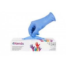 Одноразовые нитриловые перчатки 4Hands, 3,5 гр, сиреневый,  (100 шт/упак)