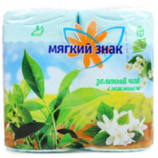 Туалетная бумага «Мягкий знак» «Delux» 4шт., 2-сл. АРОМА Зеленый чай, арт. 2433