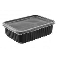 Контейнер для еды прямоугольный 500мл 179*132 ЧЕРНЫЙ ПП, ука (500 шт/упак)