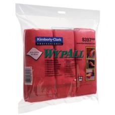 Салфетки из микрофибры Wypall Microfibre Cloth, 40 х 40 см, красные (6 шт/упак), арт. 8397