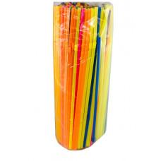 Трубочки для коктейля с изгибом 250  флуорисцентные 5*210 ПП, ука (250 шт/упак)