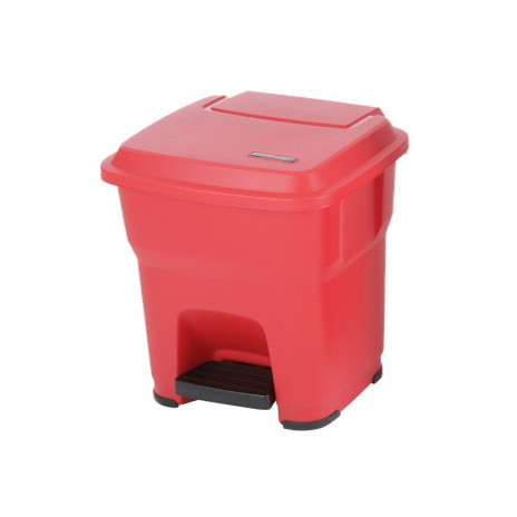 Контейнер Vileda ГЕРА с педалью и крышкой 35 л, красный, с наклейками для сортировки,, арт. 137746, Vileda Professional