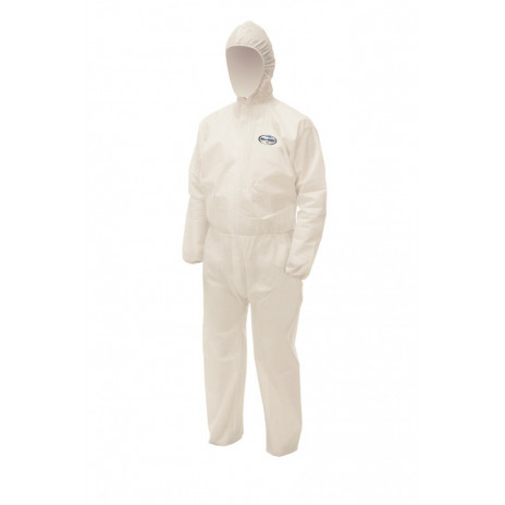 Комбинезон для защиты от брызг жидкостей и твердых частиц Kleenguard A50, XL, белый, арт. 99680, Kimberly-Clark