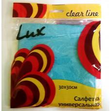 Салфетка из микрофибры супервпитыв. 30*30 Lux Clear Line