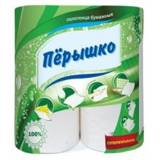 Полотенца бумажные «Перышко» 2сл., 2, белые    (16 шт/упак), арт. 3102