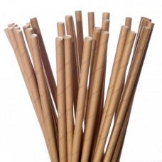 Трубочки для коктейлей 197 мм крафтовые (250 шт/уп)