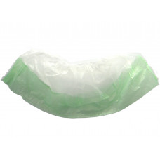 Бахилы экстра двойные, 1,8 гр/, 40 мкм, бело-зеленые,  (100 шт/упак), арт. vend-043