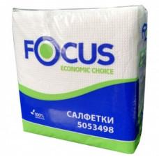 Салфетки бумажные Focus ЭКО, 1-слой, 24*23 см, 100 листов, белые (24 шт/упак), арт. 5053498