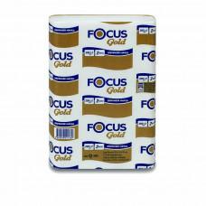 Полотенца для рук в пачках Z-сложия Focus Gold, 2-слоя, 24*21,5 см, 200 л, белый (20 шт/упак), арт. 5048673 / 5036890