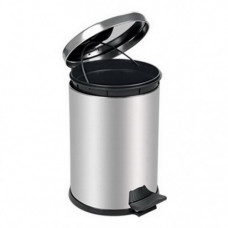 Контейнер CHROME для мусора с педалью, 8 литра, хром, арт. A55008