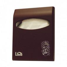 Диспенсер для покрытий на унитаз LIME Color mini, коричневый, арт. A66210MAS