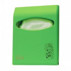 Диспенсер для покрытий на унитаз LIME Color mini, зеленый, арт. A66210VES