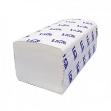 Бумажные полотенца V-сложения, размер 22,5*22,5 см, 250 листов, 1 слой, белый (V / ZZ-сложение)