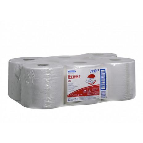 Протирочные салфетки WYPALL* L10 рулон с центральной подачей, 630 листов (6 шт/упак), арт. 7490, Kimberly-Clark