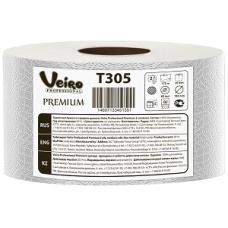 Туалетная бумага Veiro Professional Premium в средних рулонах,1360 листов 9,5 x 12,5 см, 2 слоя (12 шт/упак), арт. 305 T