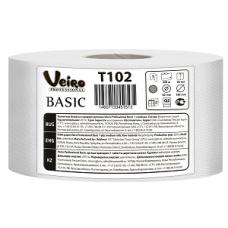 Туалетная бумага Veiro Professional Basic в средних рулонах, 1 слой (12 шт/упак), арт. 102 T