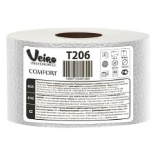 Туалетная бумага Veiro Professional Comfort в средних рулонах, 1000 листов 9,5 x 12,5 см, 2 слоя (12 шт/упак), арт. 206 T
