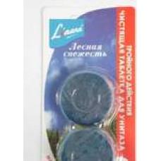 Liaara Табс чистящее средство для унитазов таблетки для сливного бачка лесная свежесть 2*50 (4 шт/упак), арт. 3020260