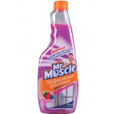 Mr Muscle чистящее средство для стекол с Ammonia-D лесная ягода, сменный блок, 500МЛ (2 шт/упак), арт. 3010988