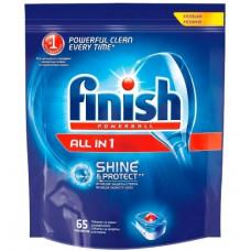 Finish чистящее средство для посудомоечных машин таблетки All in1 для мытья посуды 65ШТ, арт. 3070340