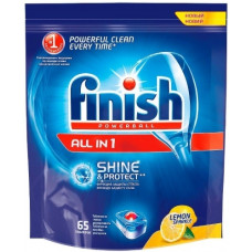 Finish чистящее средство для посудомоечных машин таблетки All in1 для мытья посуды Лимон 65ШТ, арт. 3070341