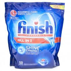 Finish чистящее средство для посудомоечных машин таблетки All in1 д/мытья посуды 50ШТ, арт. 8169188
