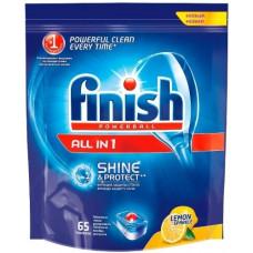 Finish чистящее средство для посудомоечных машин таблетки All in1 д/мытья посуды Лимон 65ШТ, арт. 8169192