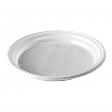 Тарелка одноразовая 205 мм без секций ПолиЭр (100 шт/уп)