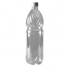 Бутылка пластиковая 1л прозрачный + пробка (50 шт/уп)
