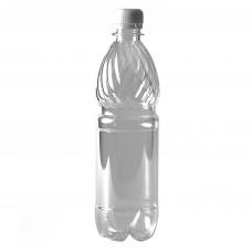 Бутылка пластиковая 0,5л прозрачный + пробка (100 шт/уп)