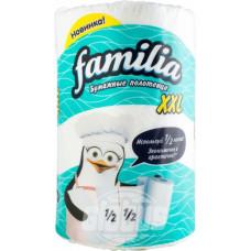 Полотенца бумажные Familia XXL с тиснением и перфорацией, 2 слоя