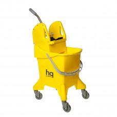 Ведро на колесах с универсальным отжимом, желтое, 31 л HQ Profiline