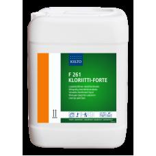 Жидкое дезинфицирующее средство на основе активного хлора, F 261 KLORIITTI-FORTE, 10 л, арт. 205109